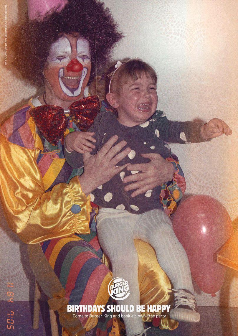 西班牙汉堡王小丑系列海报