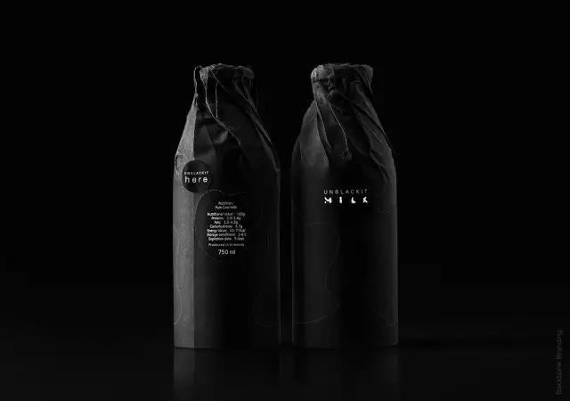 黑色牛奶包装