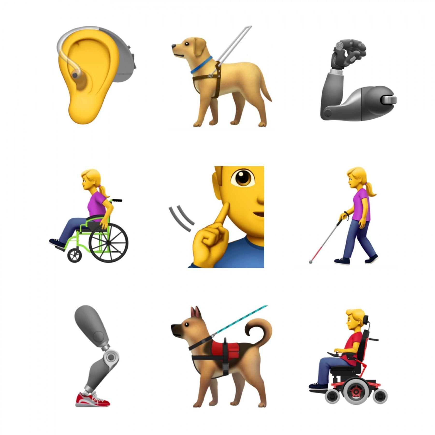 苹果公司残疾人主题表情符号