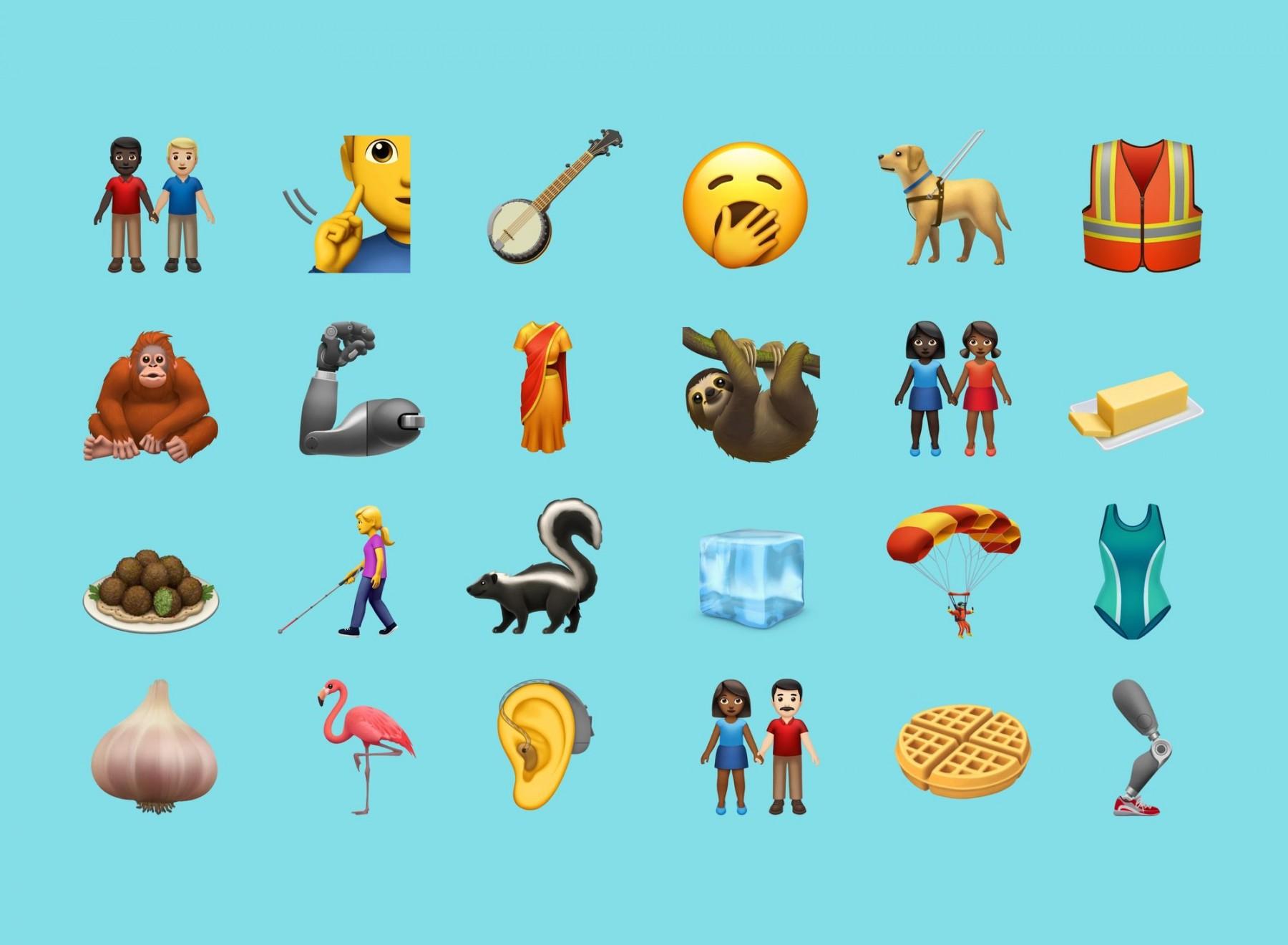 苹果公司最新表情符号设计