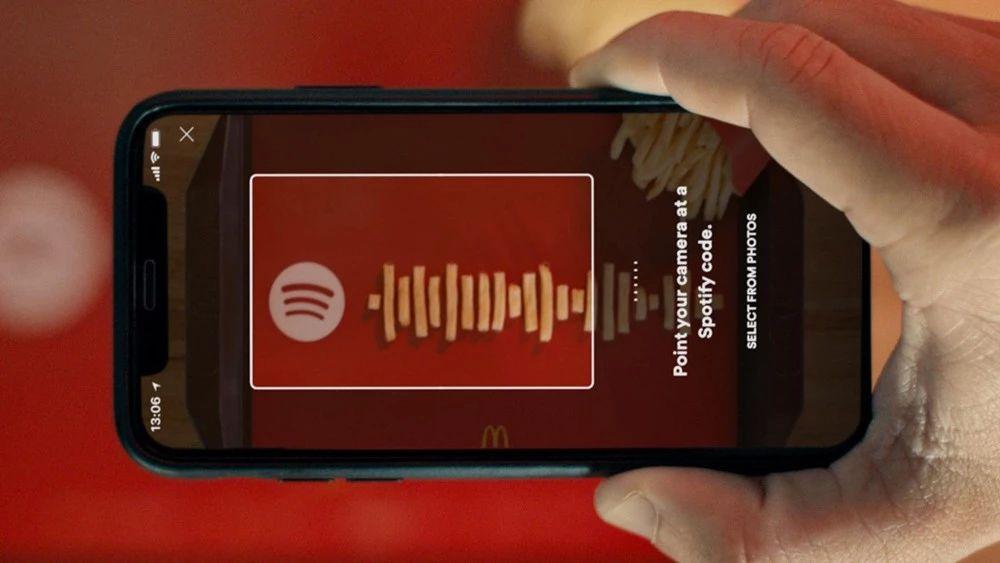 麦当劳薯条歌单营销海报