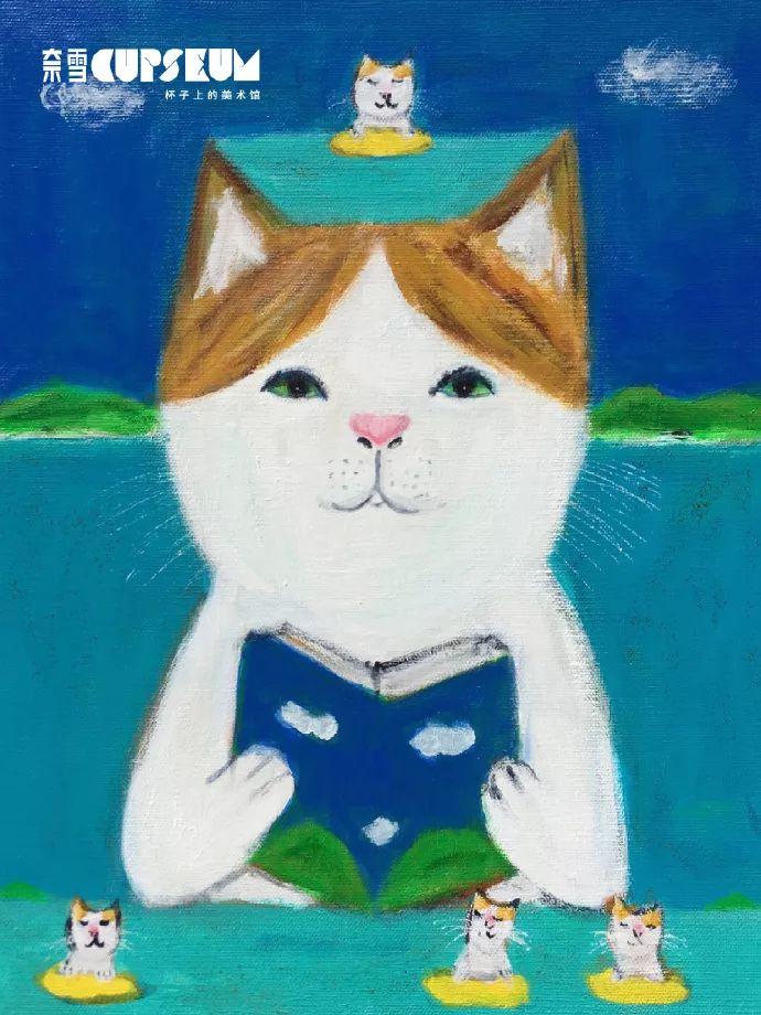柰雪猫咪杯定制插画