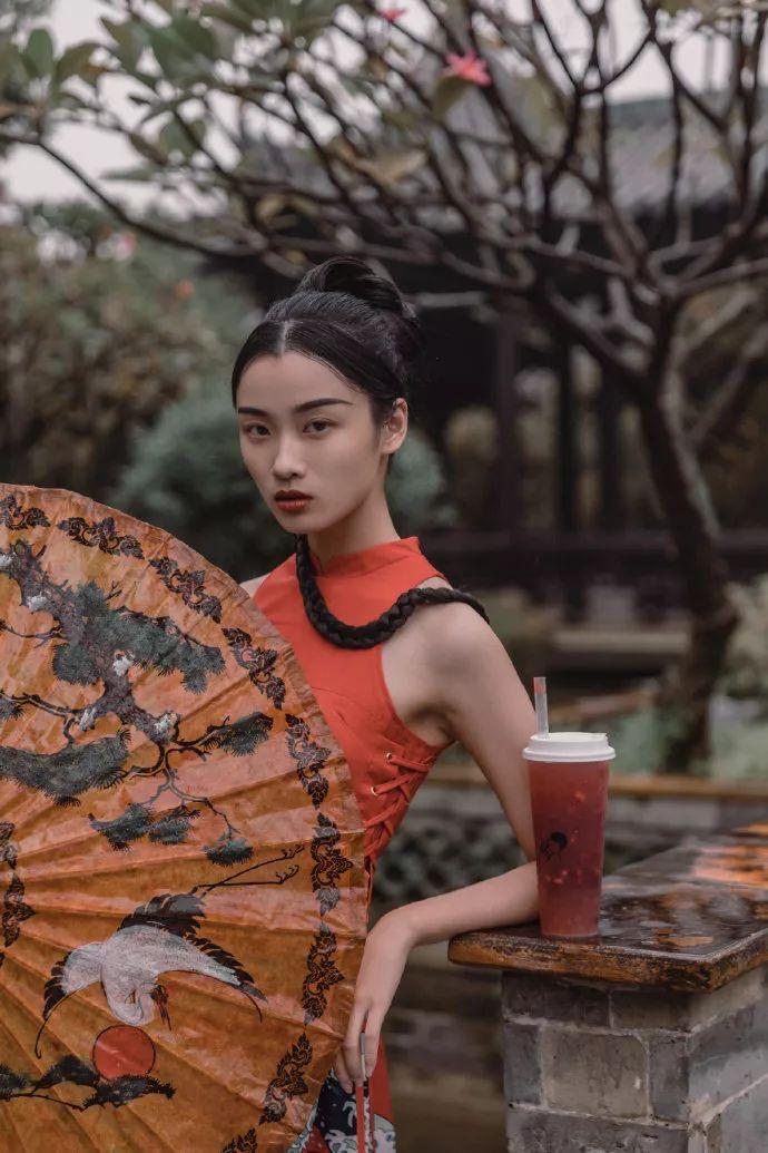 喜茶中国风海报屏风