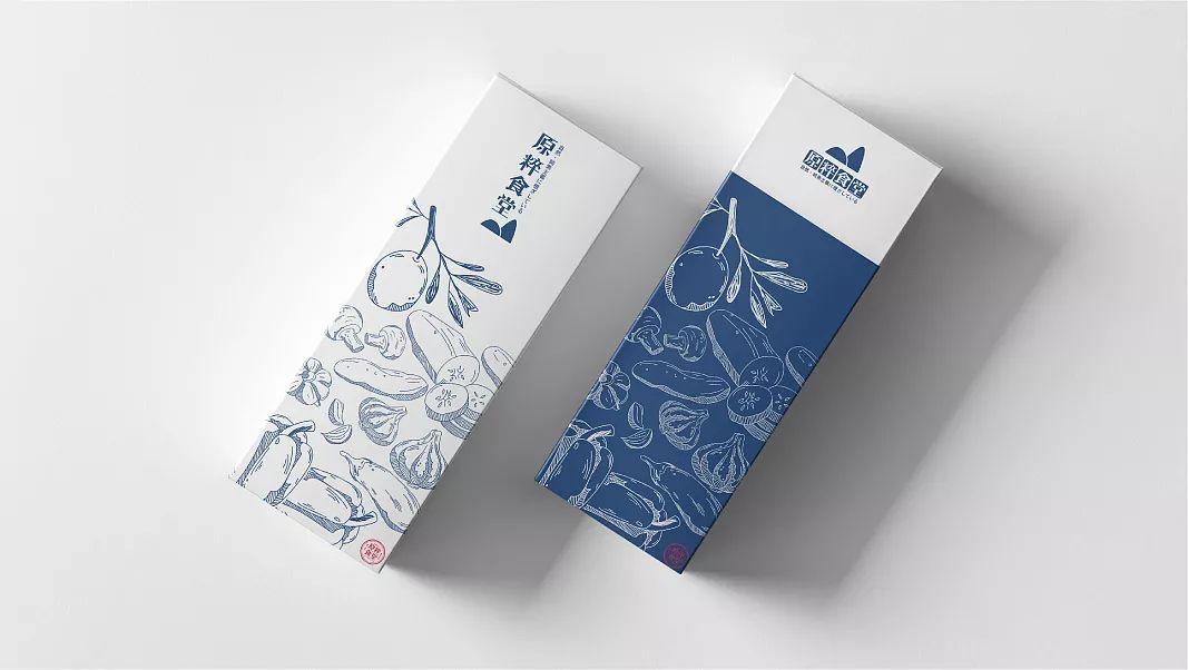 原粹食堂餐厅品牌包装设计
