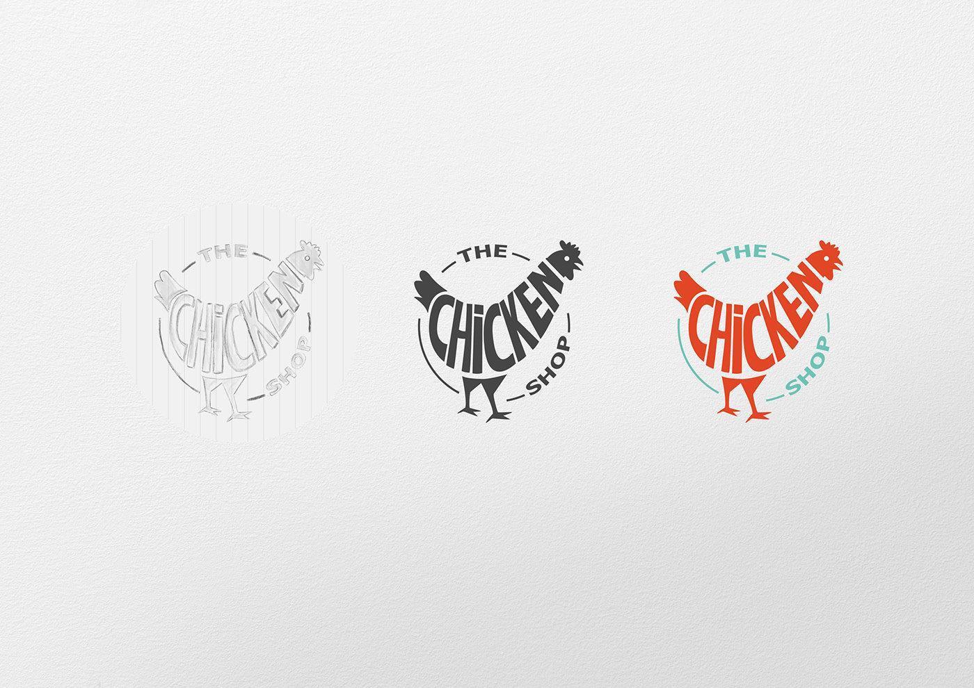 专业logo设计_品牌鸡logo手绘图