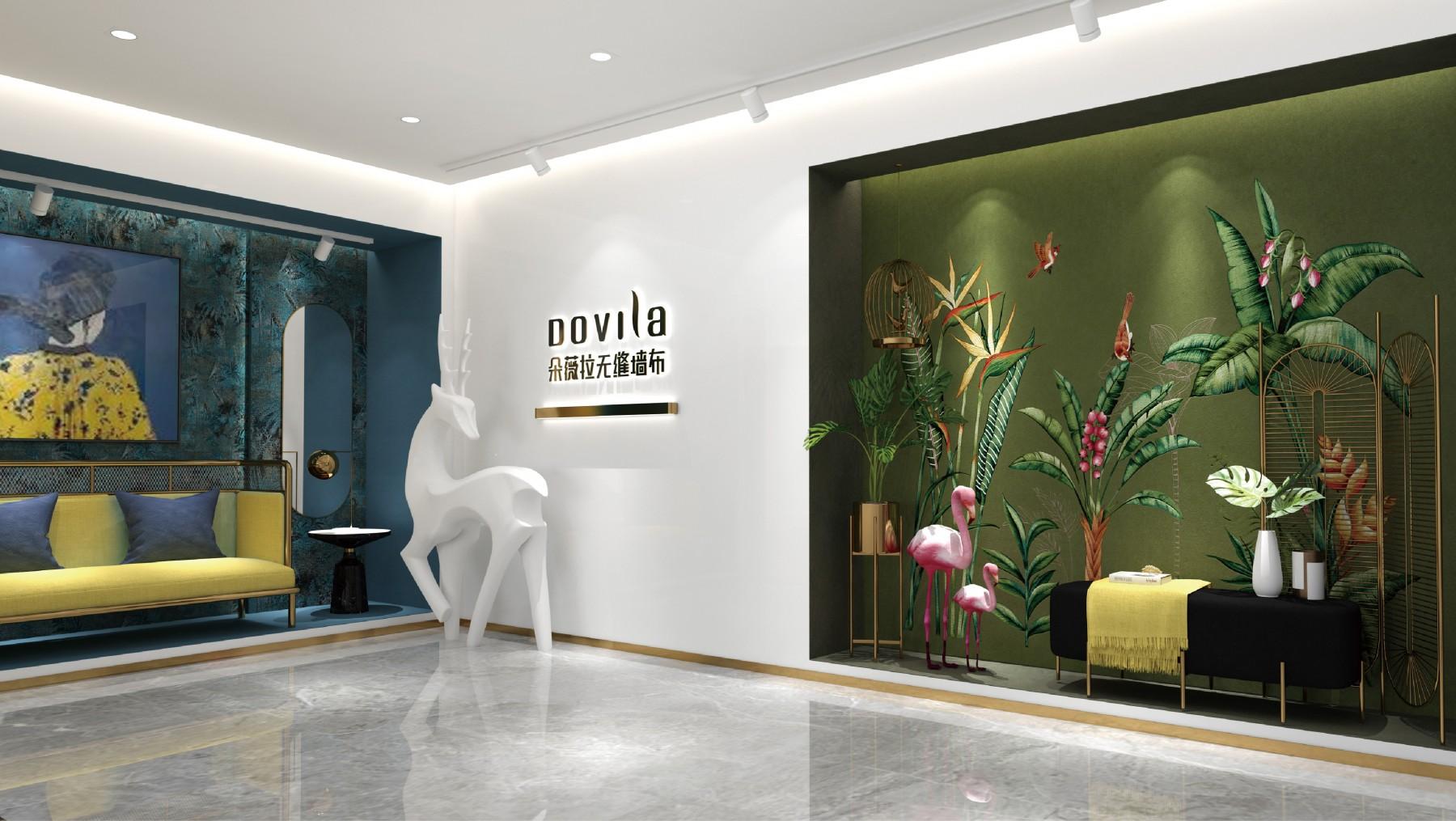 朵薇拉无缝墙布专卖店品牌设计