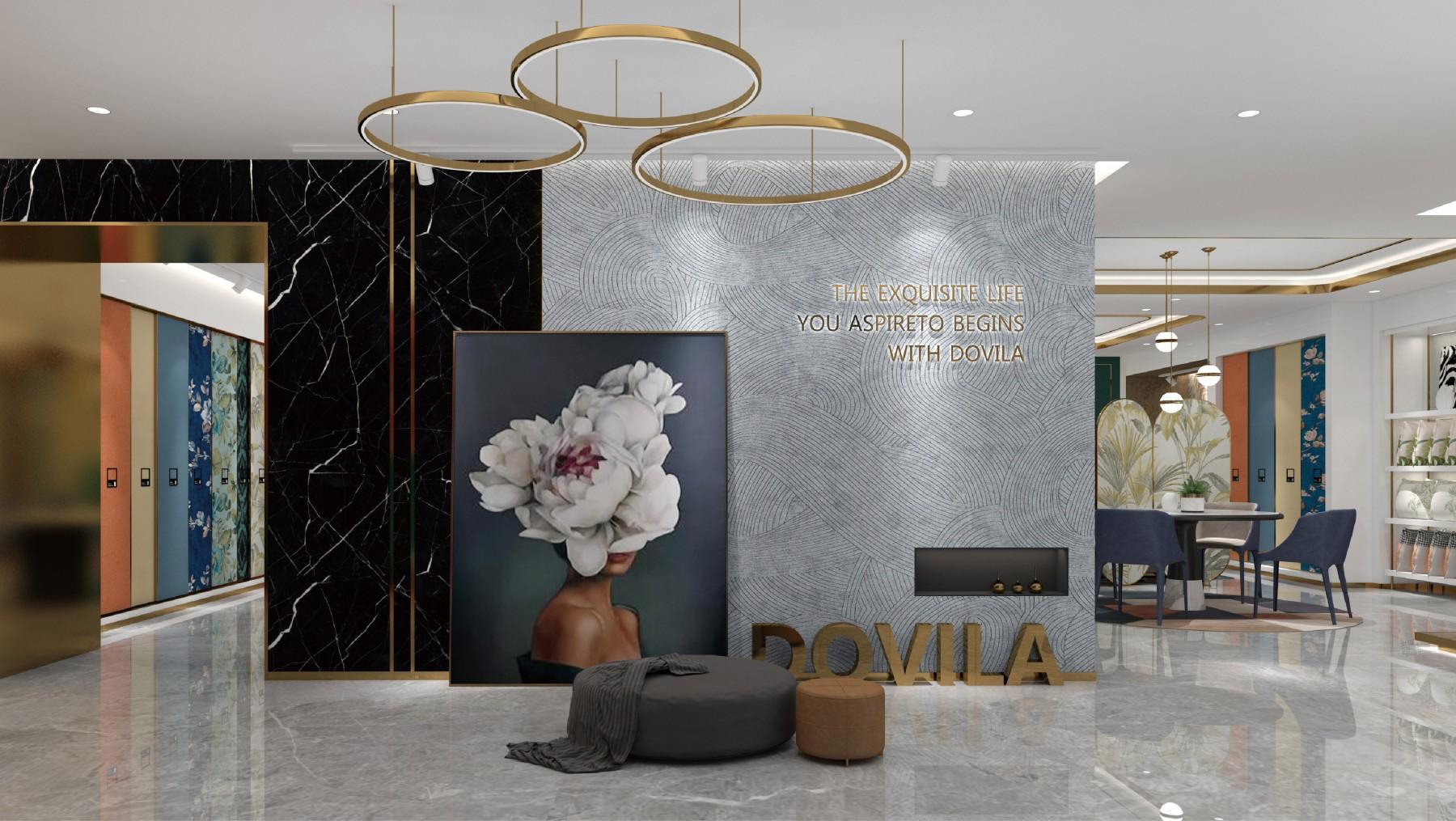 朵薇拉无缝墙布专卖店VI设计