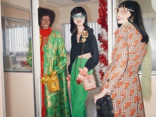 今年圣诞,Gucci办了场摩登复古的办公室派对